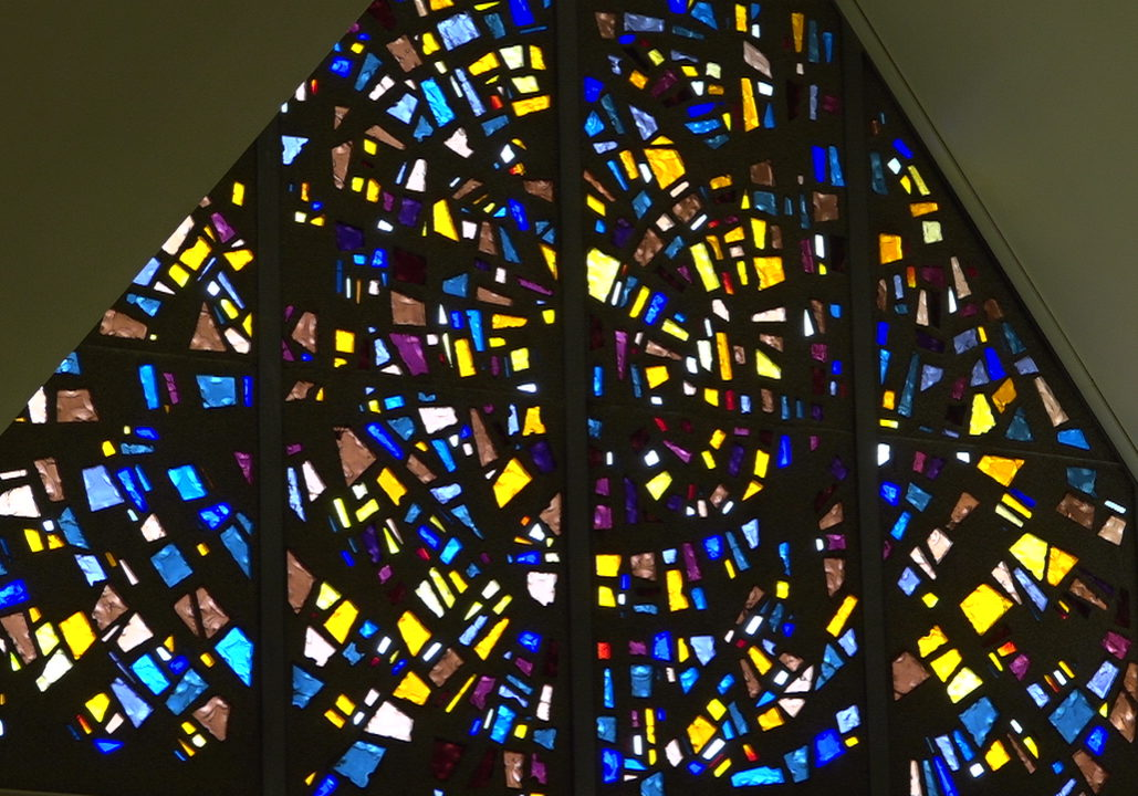 CathedralSJ #3 (colored Glass Gable Window)