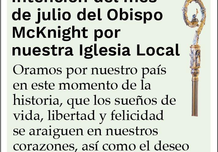 DJC Bishop July Intentions 1col Spanish Only