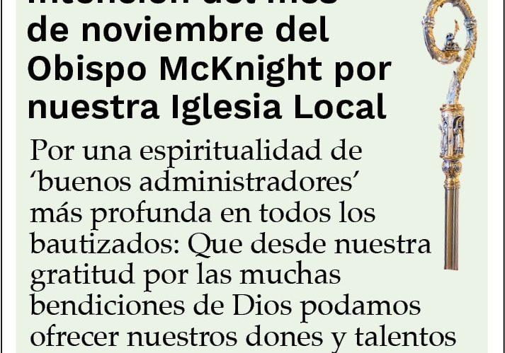 DJC Bishop November Intentions 1col Spanish Only